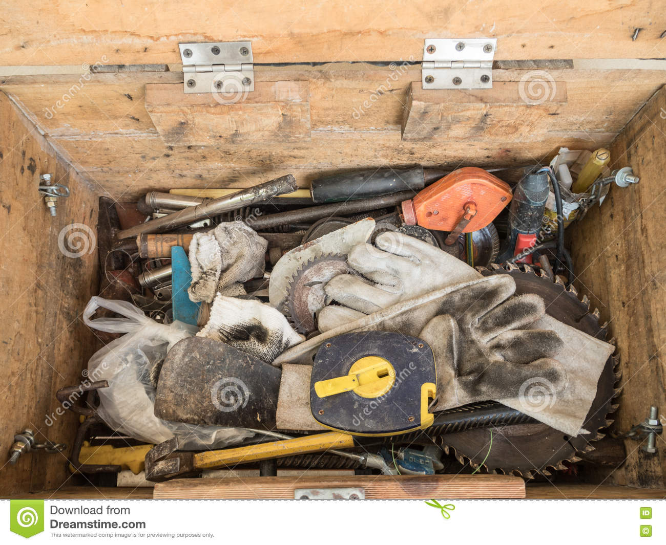 black toolbox with different