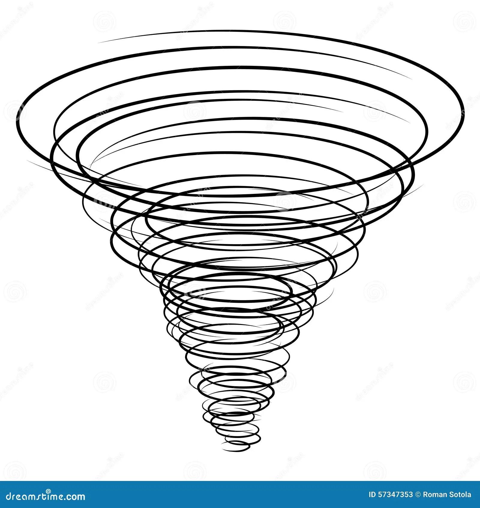 Black Tornado Symbol Stock Vector Illustration Of Speed