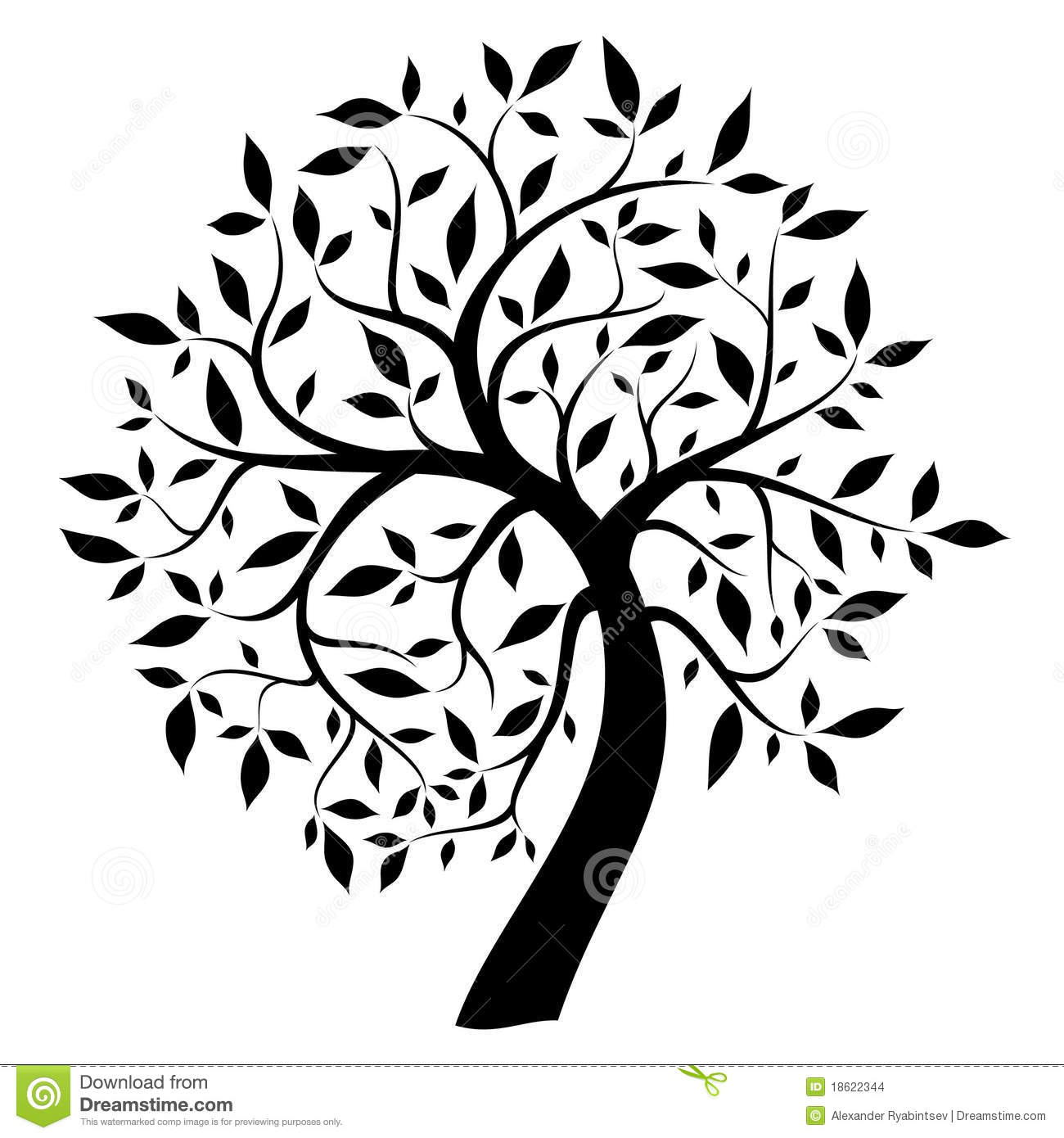 Black Tree Stock Illustration Illustration Of Abstract