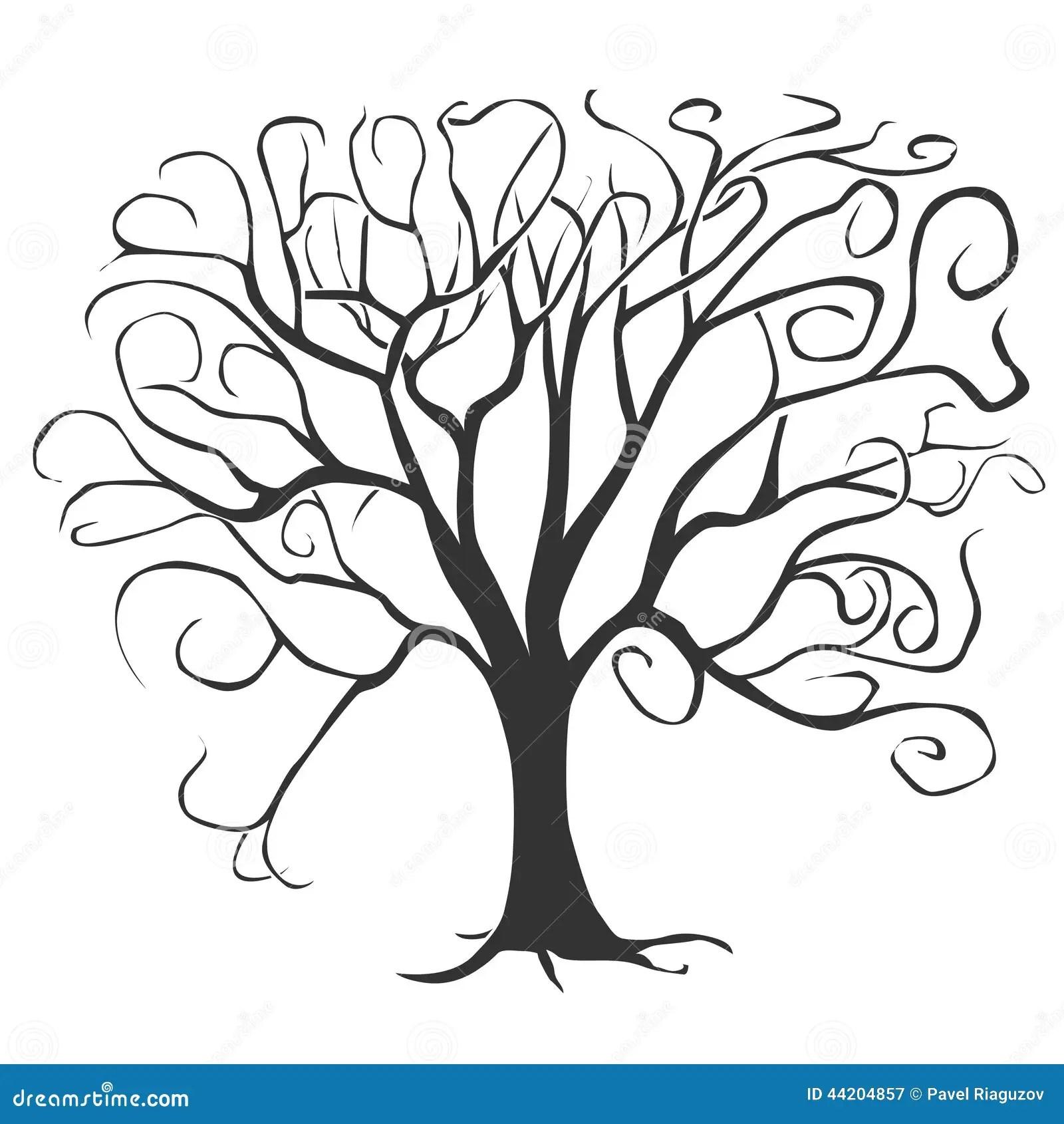 Black Tree Stock Vector