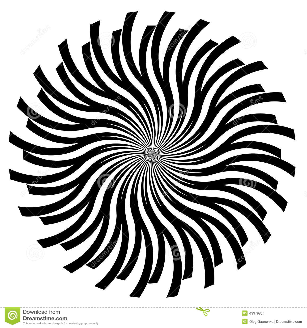 Black And Trippy White Svg