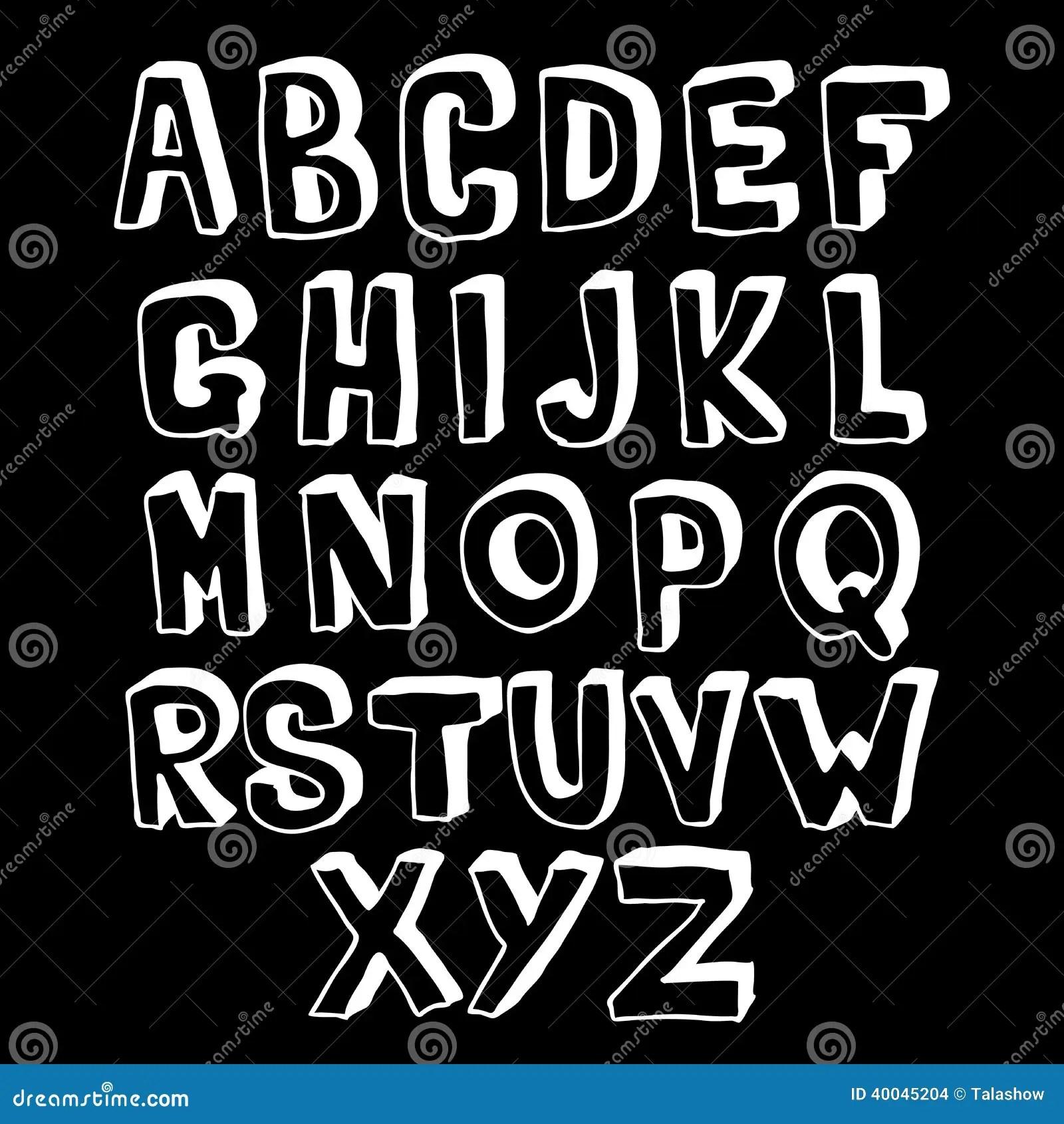 Black And White Alphabet Volume Stock Vector