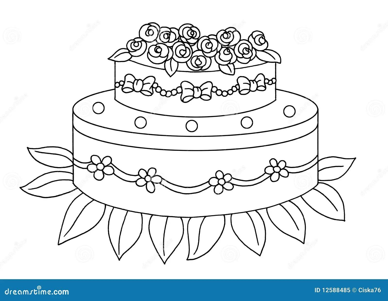 Black and white  cake stock illustration Illustration of