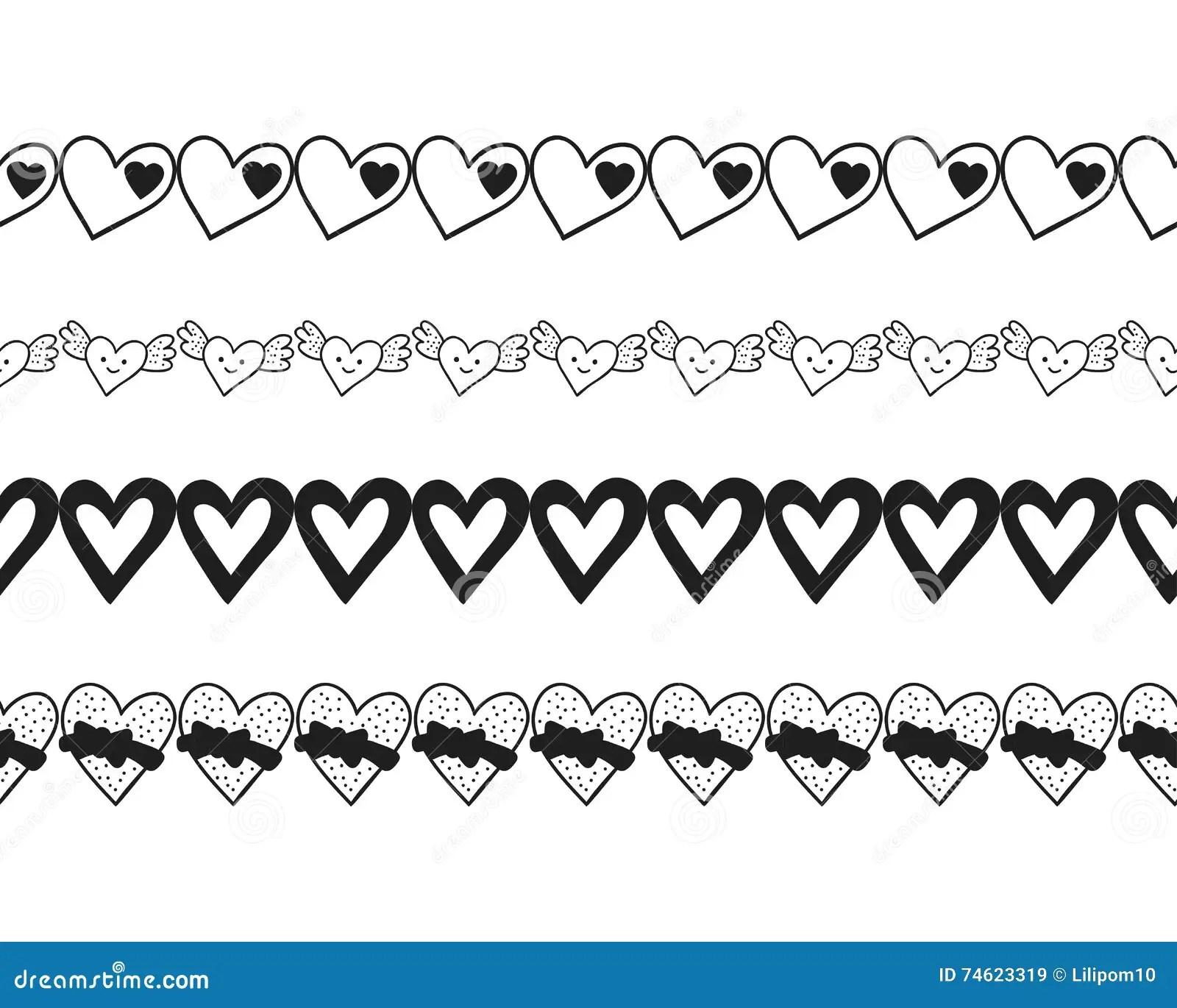 Black And White Decorative Ornament Pattern Border Of
