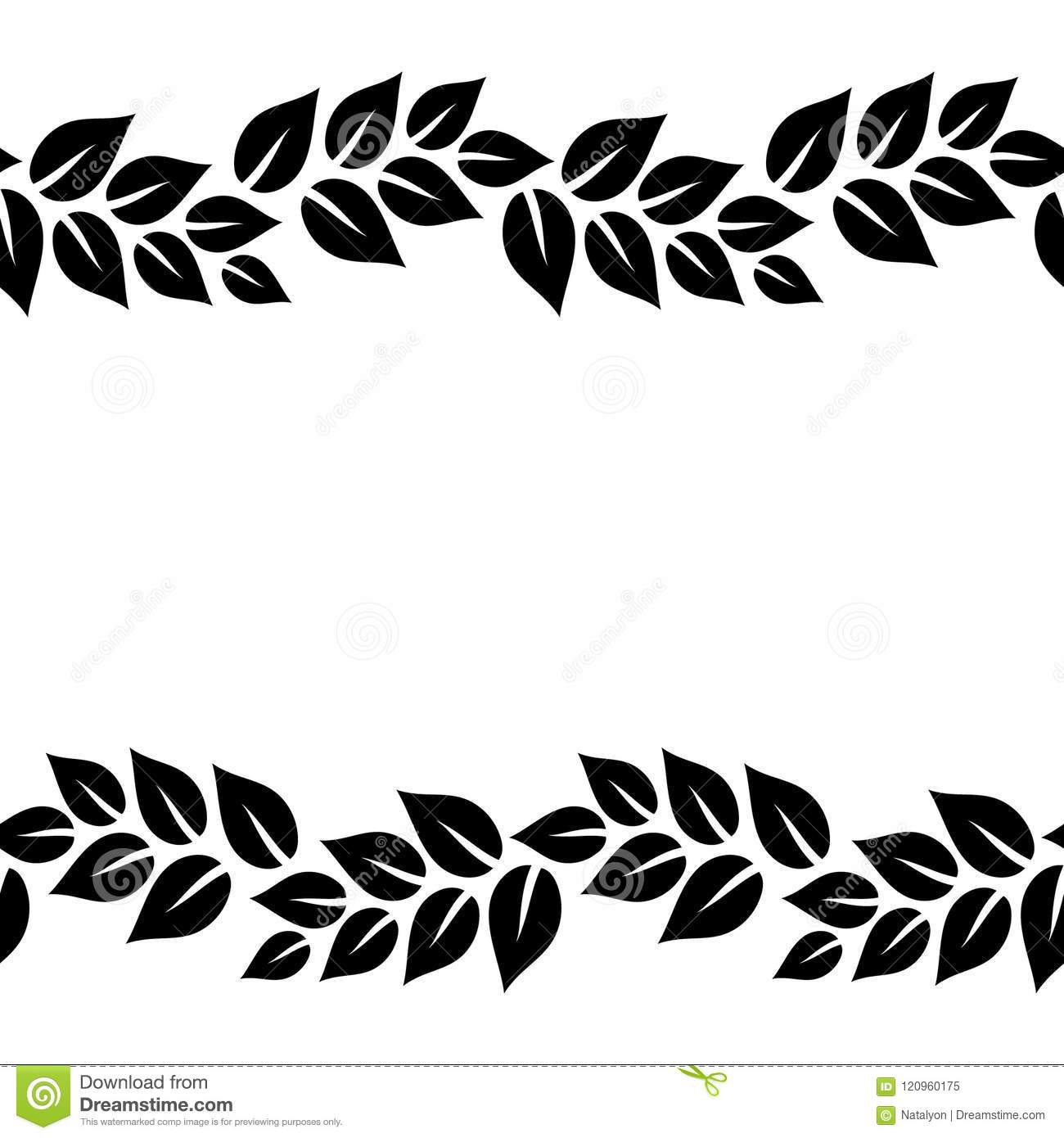 Latest Leaf Border Clip Art Black And White