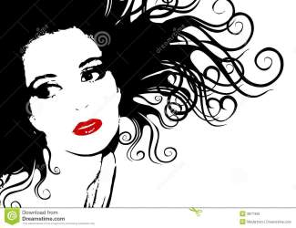 face silhouette outline woman female clip hair illustration clipart contrast abstract head curly flowing dreamstime clipartpanda visage femme artwork dramatic
