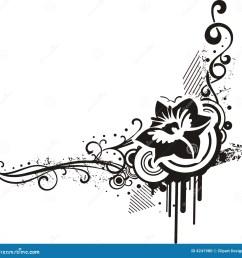 black white floral designs [ 1300 x 1341 Pixel ]