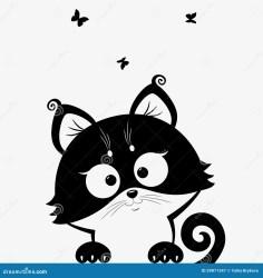 silhouette cats kitten vector kitty nero het noir chat mignons chats blanche noire gattino droits libre katje zwarte katten zwart