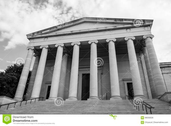 Black And White Of Facade National