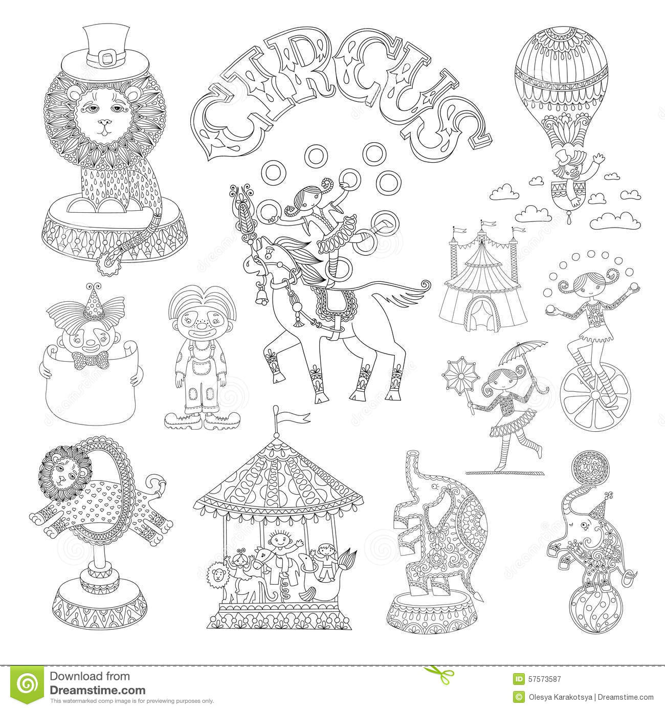 Black And White Line Art Drawings Collection Of Stock
