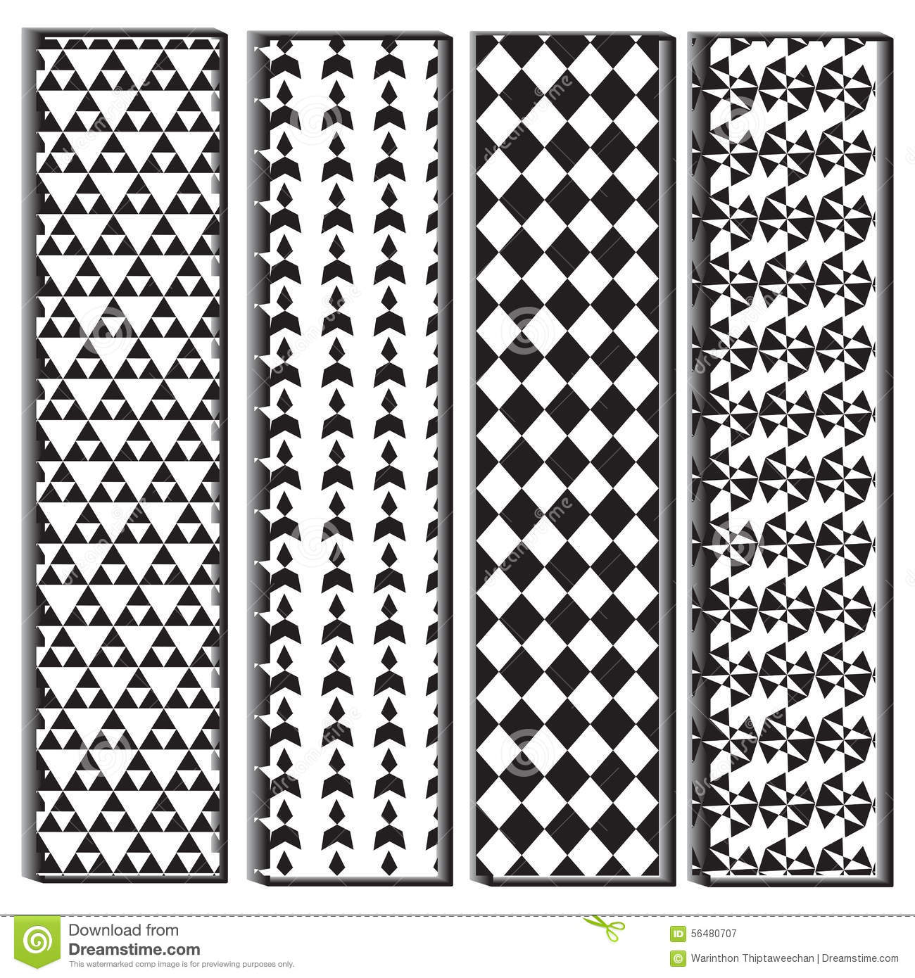 Black And White Polygon Shape Pattern Stock Vector
