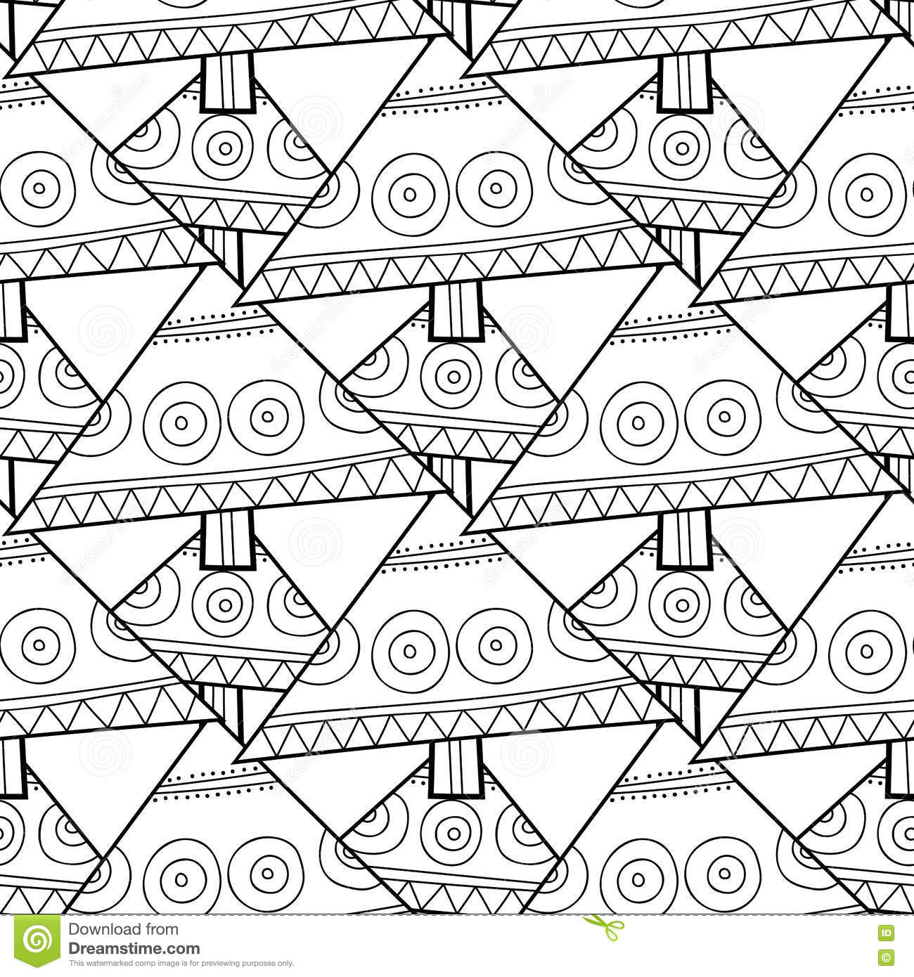 Black And White Seamless Pattern With Christmas Trees For