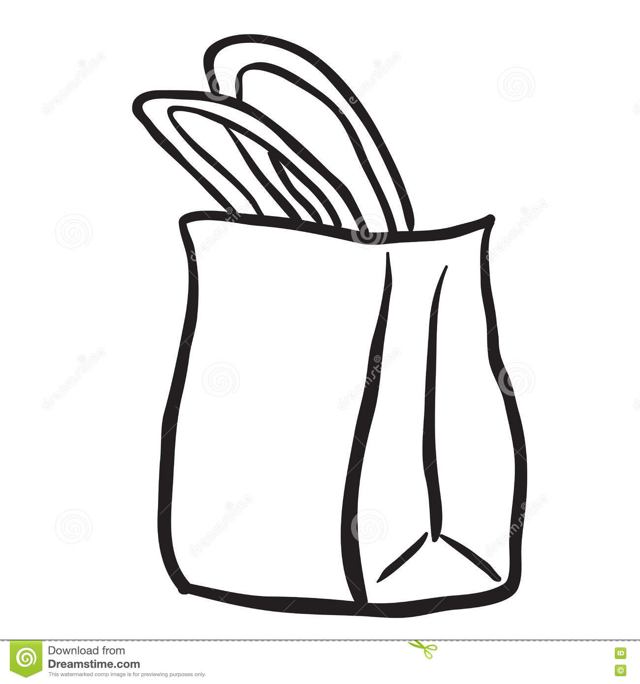 Grocery Bags Clipart Black And White