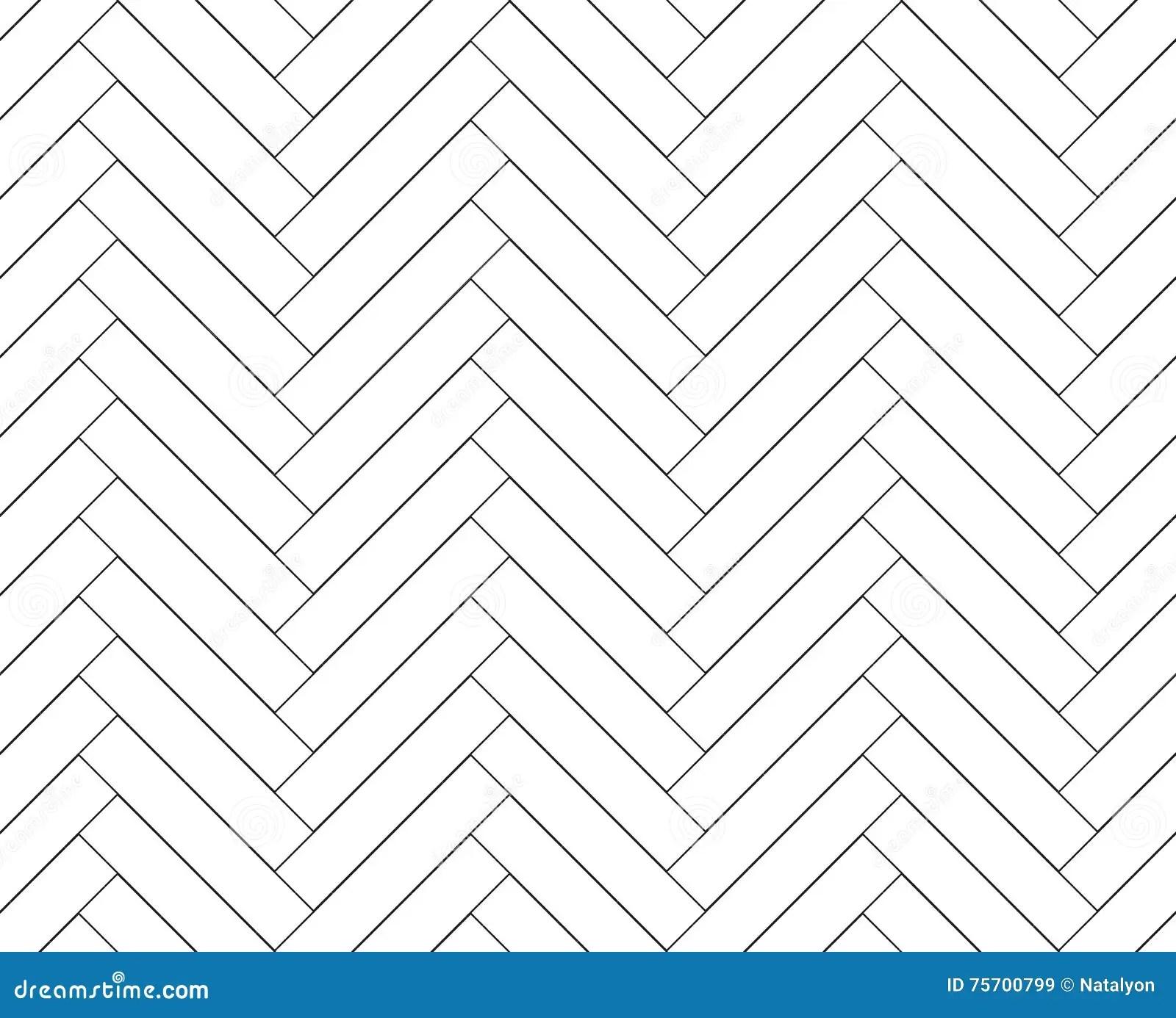 Black And White Simple Wooden Floor Herringbone Parquet