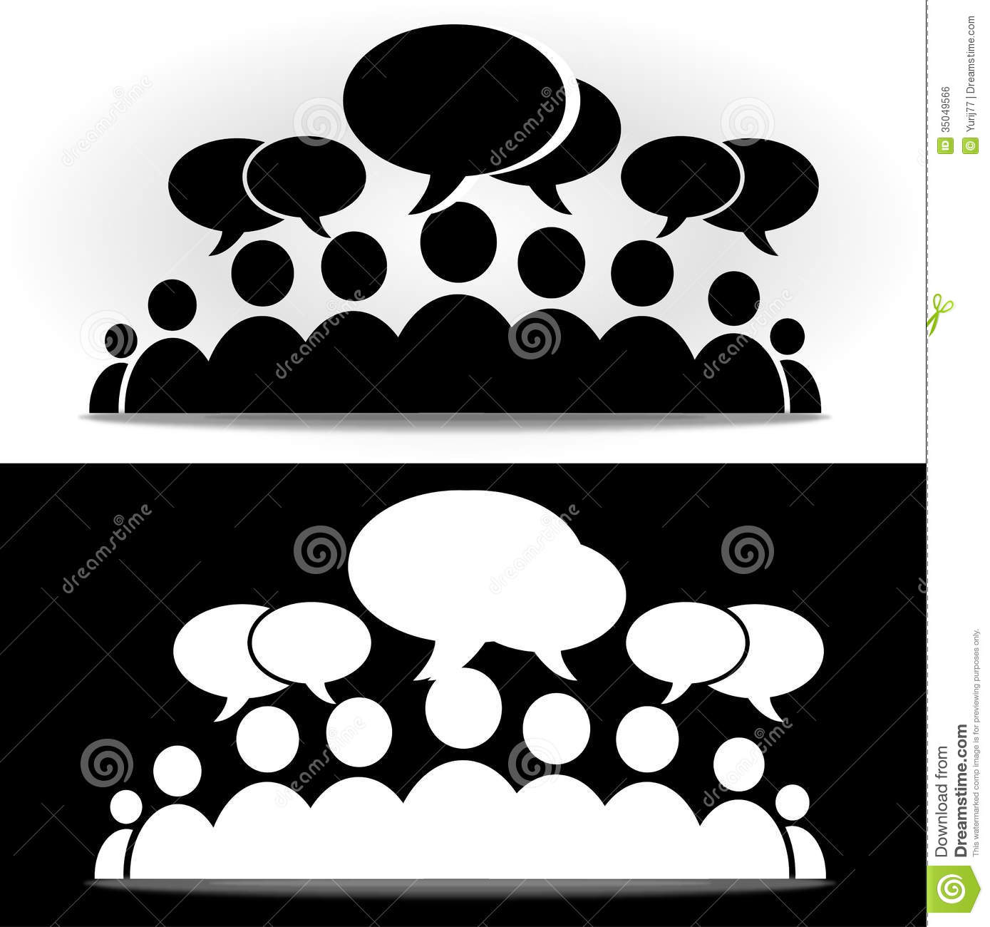Black And White Social Community Forum Royalty Free Stock Image  Image 35049566