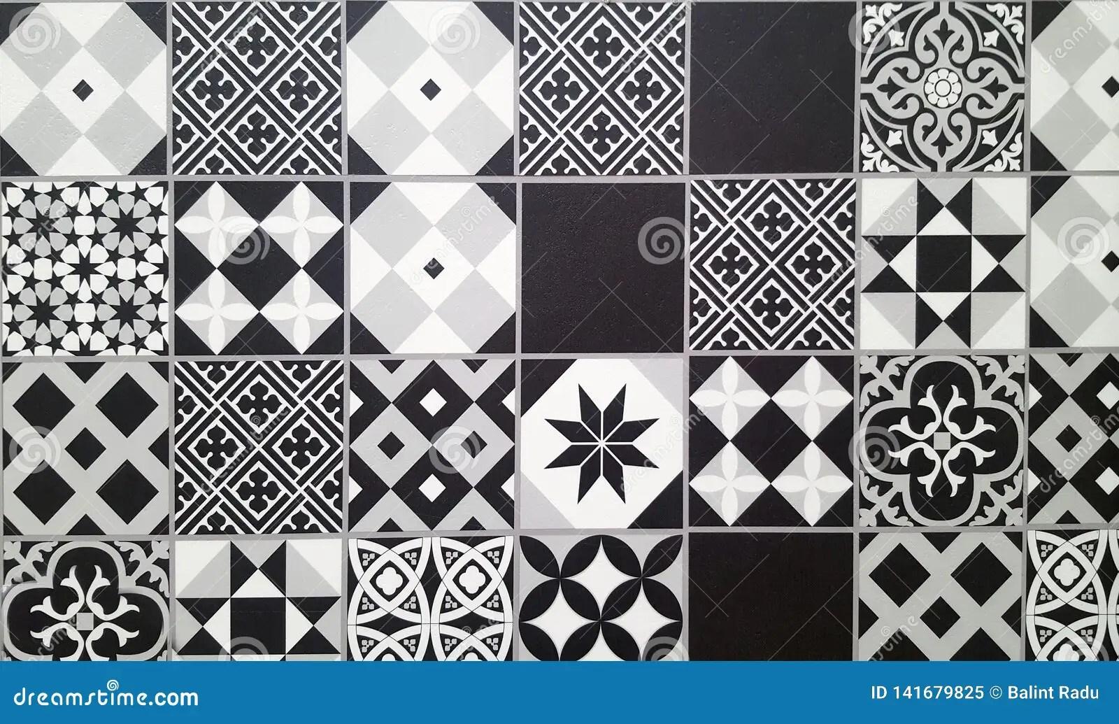 https www dreamstime com black white traditional ceramic floor tile as background image141679825