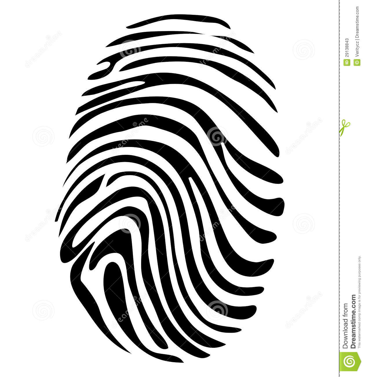 Black And White Vector Fingerprint Stock Photos