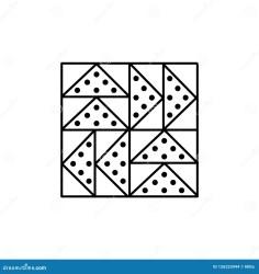 Black & White Vector Illustration Of Flying Geese Quilt Pattern Stock Vector Illustration of object quilt: 126225944