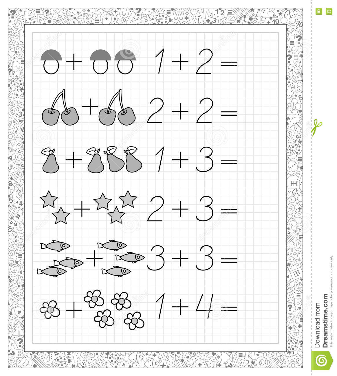 Black And White Worksheet On A Square Paper With Exercises For Little Children Page With The