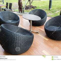 Comfortable Wicker Chairs Bar Ikea Black Chair Stock Photo Image 34440630