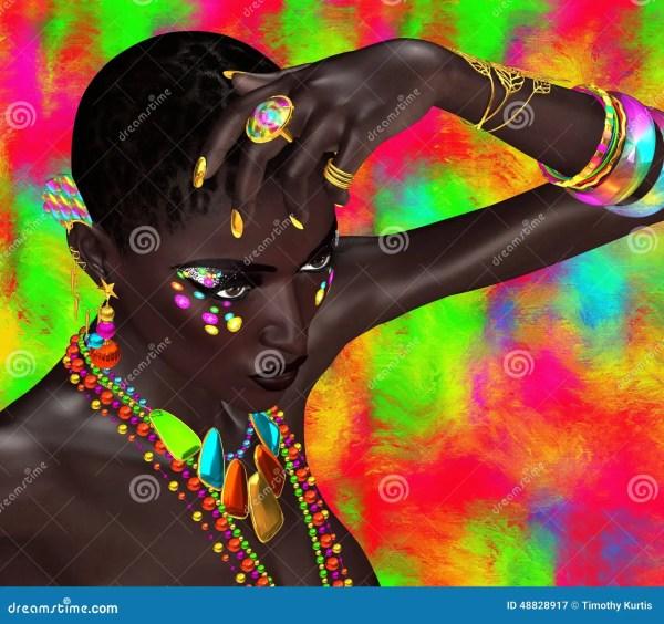 Colorful Black Art Women