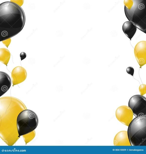 black and yellow transparent helium