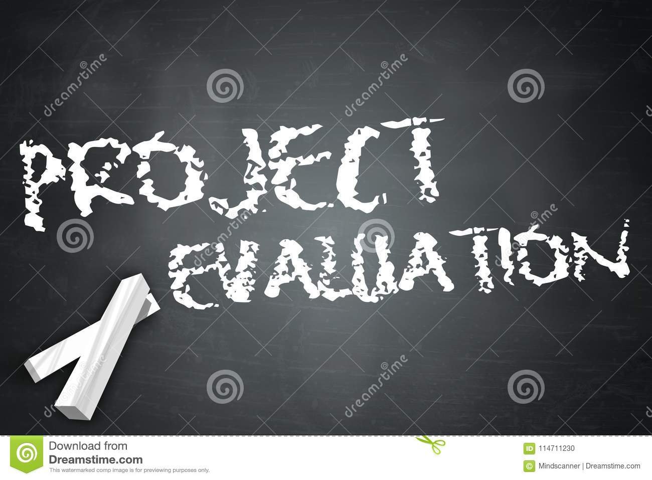 Download Blackboard Project Evaluation Stock Illustration - Illustration Of  Analysis, Goals: 114711230