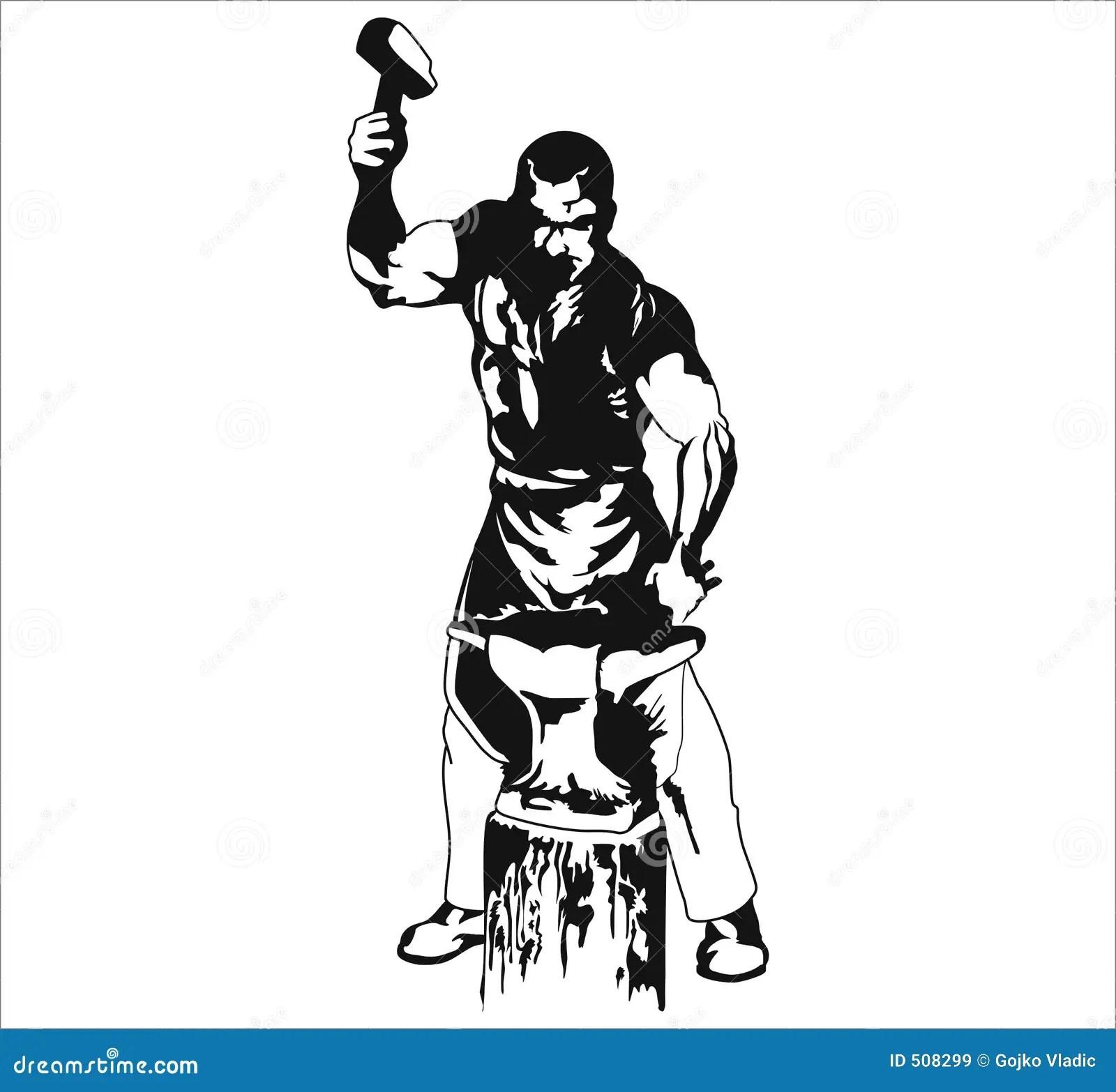 Blacksmith Stock Illustration Illustration Of Dirty