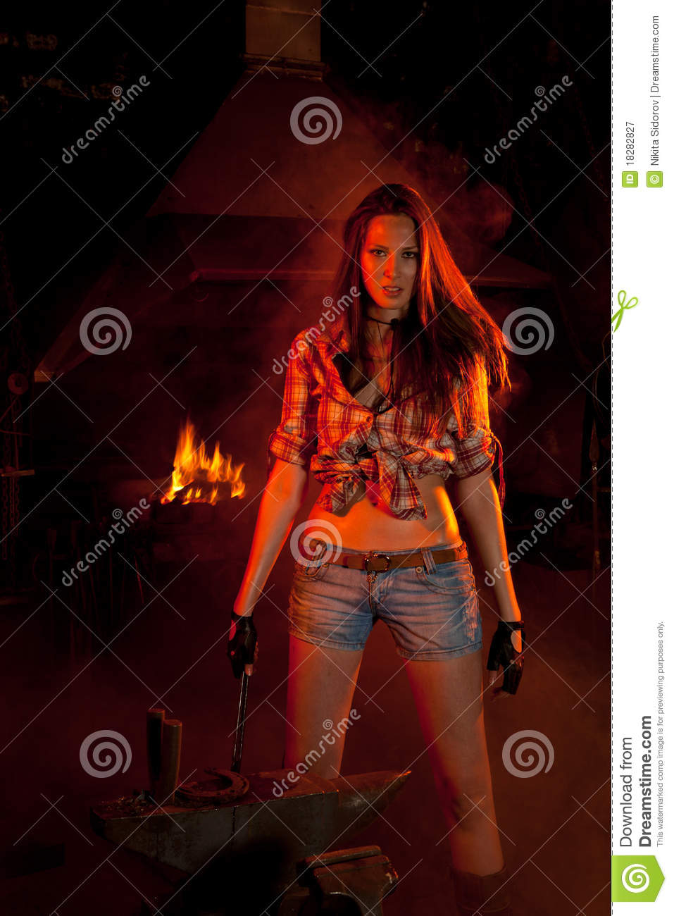 Beautiful Girl Hand Wallpaper Blacksmith Girl Stock Image Image Of Furnace Filled