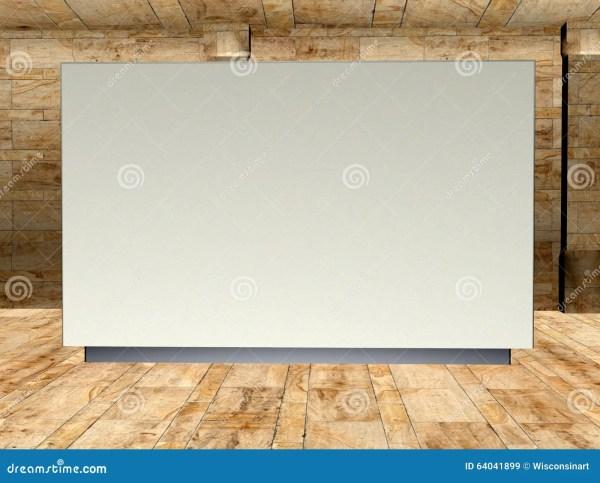 Blank Art Display Wall Illustration Stock