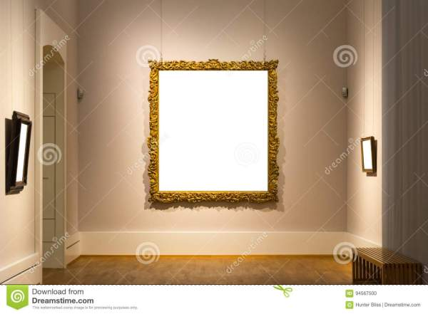 Blank Art Museum Isolated Painting Frame Decoration