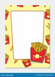 Blank Food Menu Background Design
