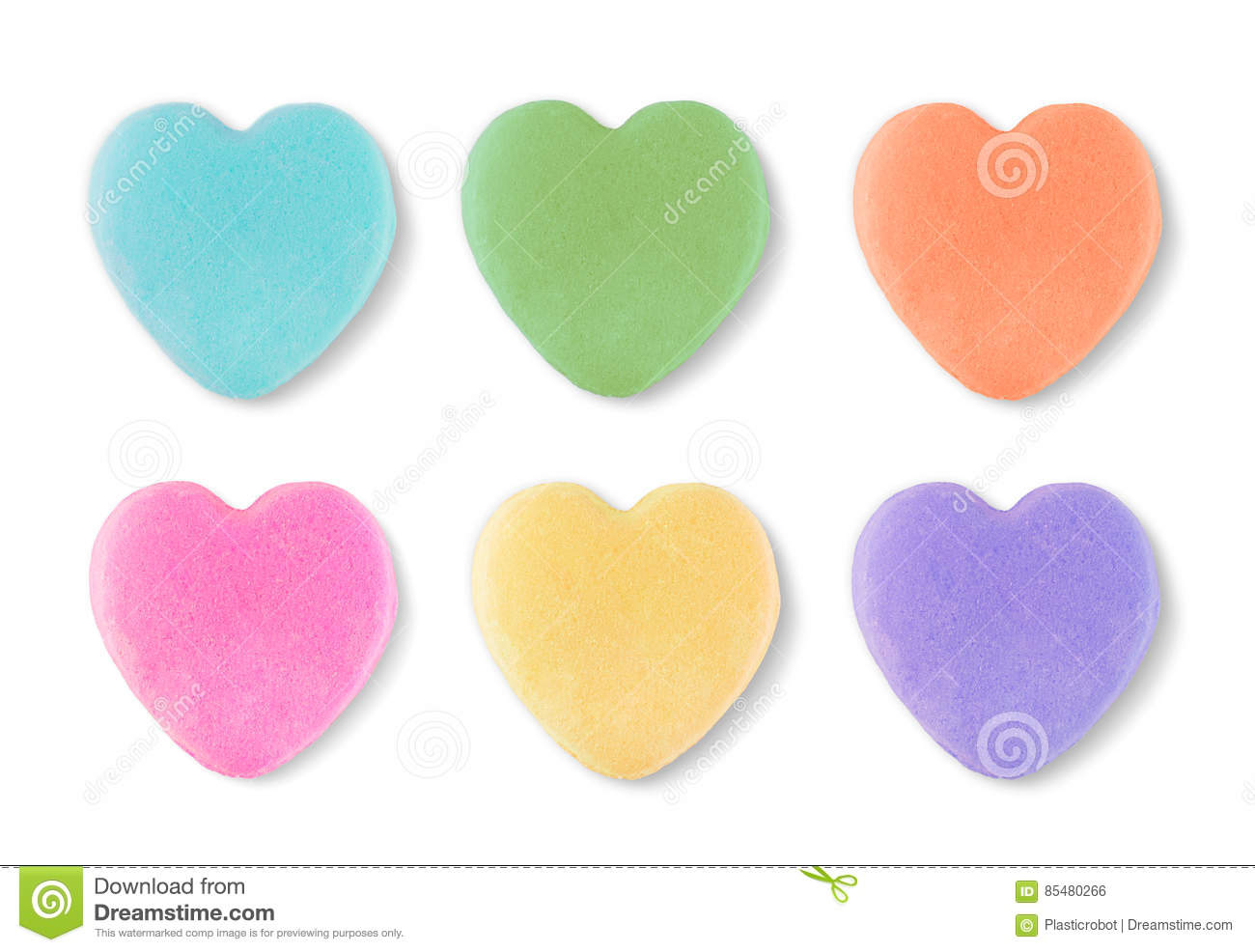 Blank Candy Valentines Hearts Stock Photo