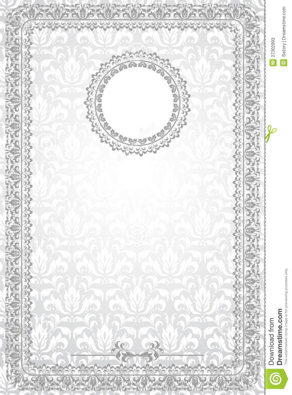 Blank certificate stock vector. Illustration of pattern