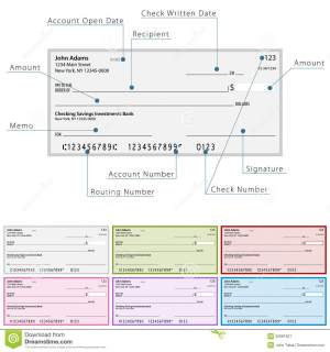 Blank Check Diagram Royalty Free Stock Photography  Image