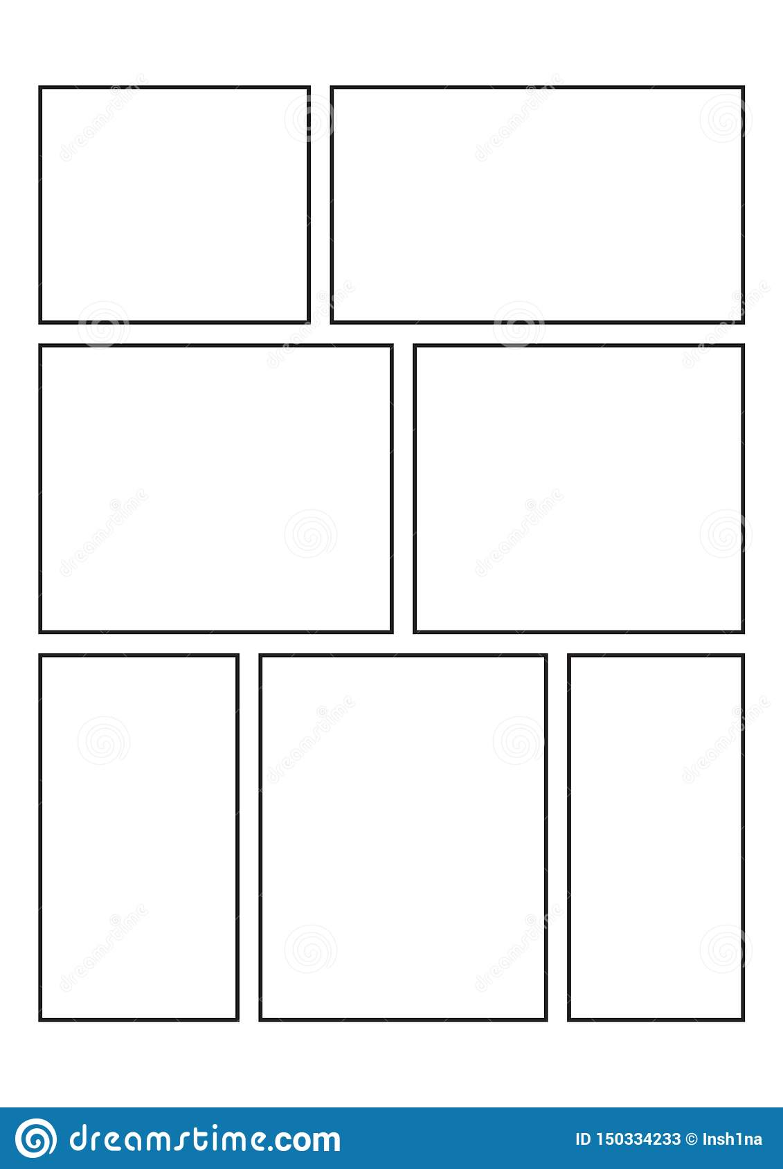 Blank Comic Book Which Is Ideal For Creative Ideas For