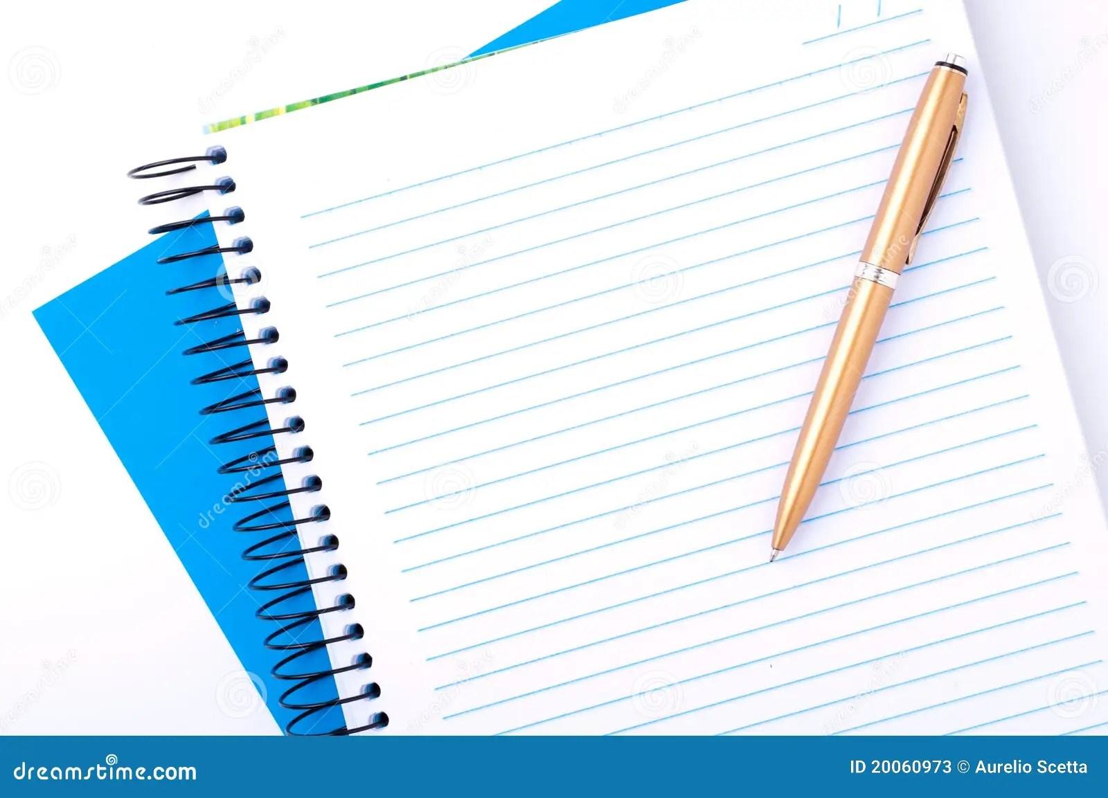 Blank Copybook And Pen Stock Photos - Image: 20060973