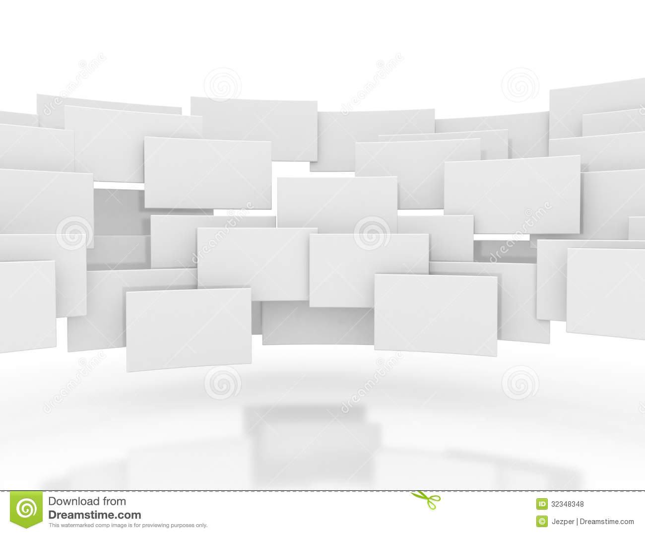 Blank 3d Squares Royalty Free Stock Photos Image 32348348