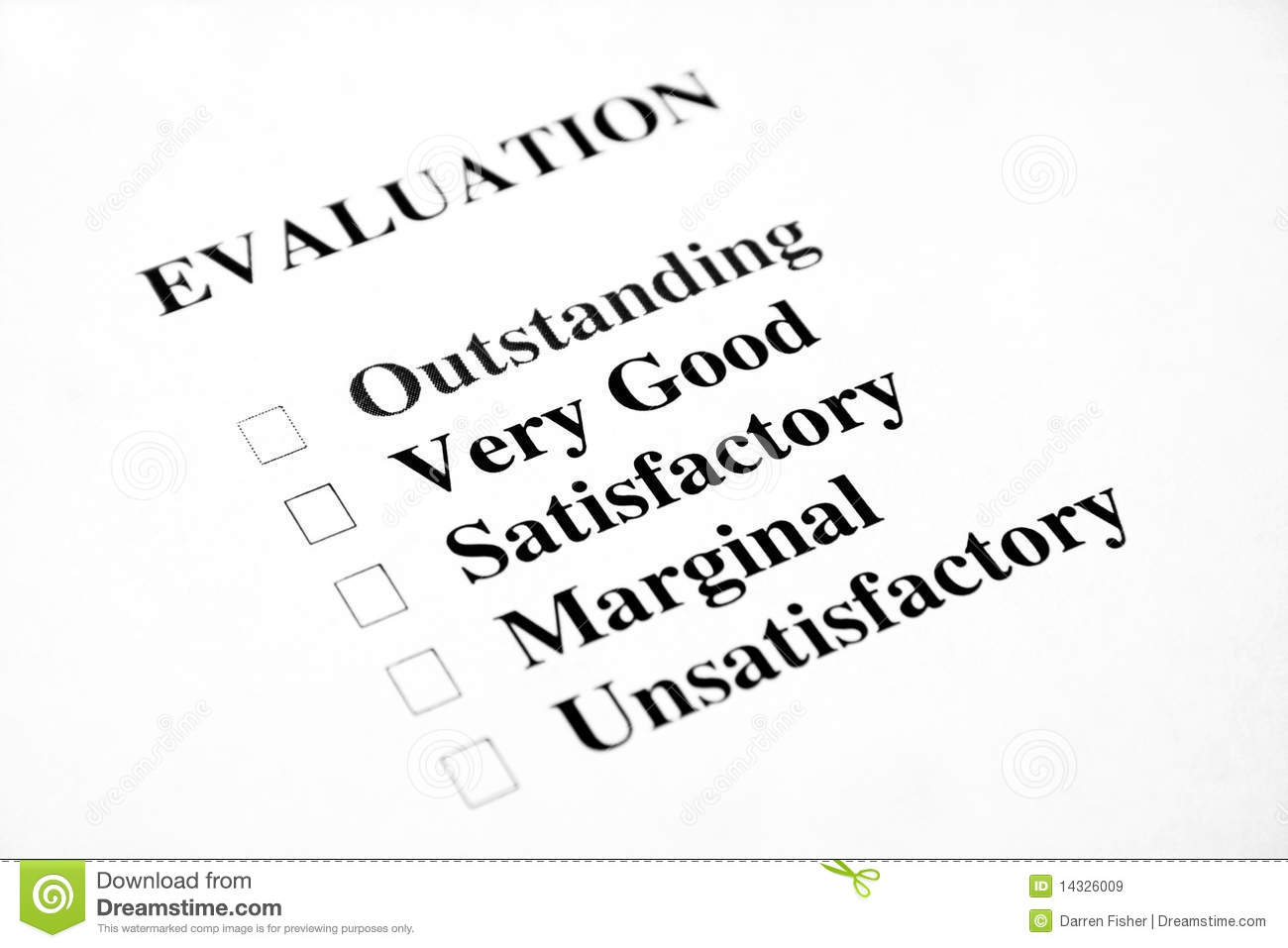 Blank Evaluation stock image. Image of mark, form