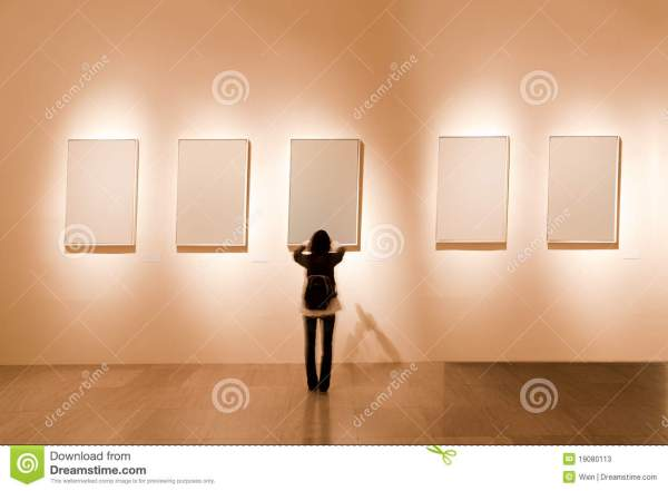 Blank Frame In Art Stock Of