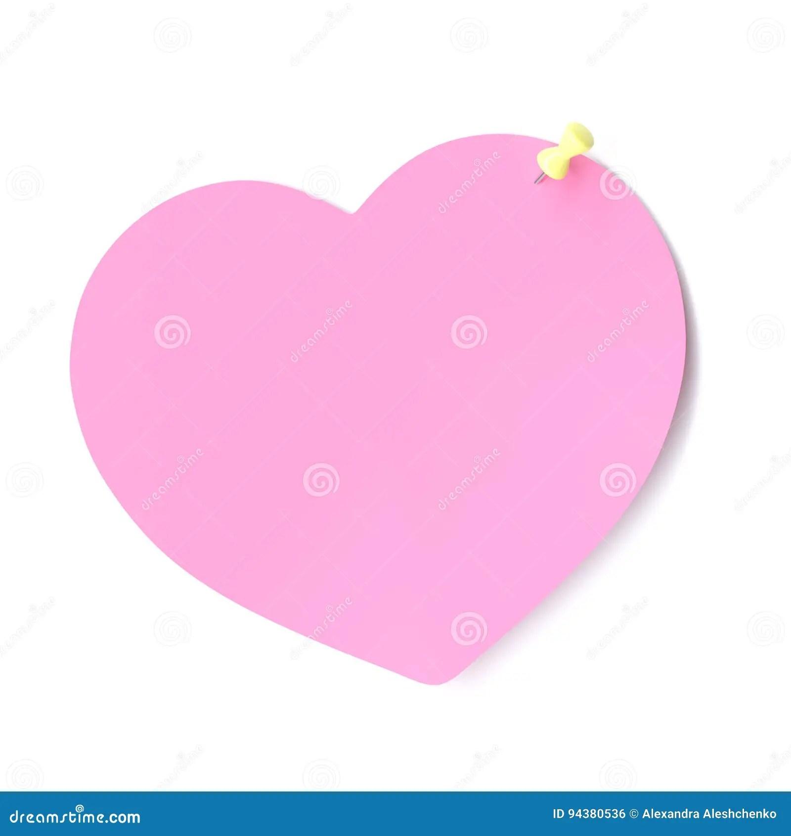 Blank Heart Shape Note Stock Illustration Illustration Of