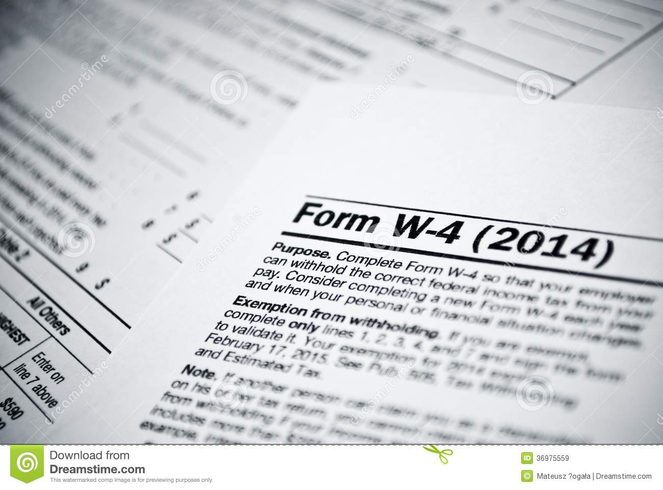 Blank Income Tax Forms American Individual Income Tax Return Form Editorial Stock Image