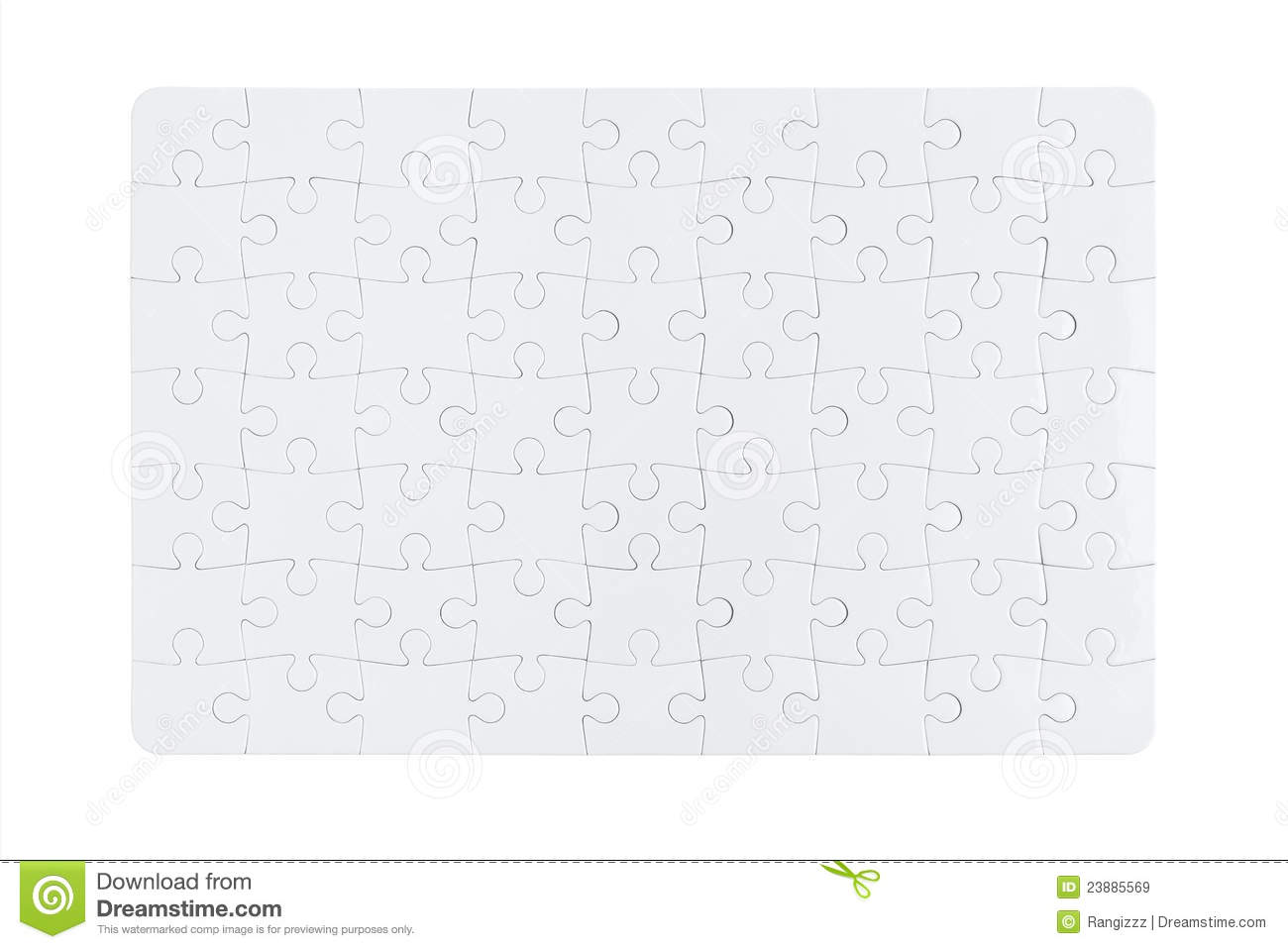 Blank Jigsaw Puzzle Stock Image Image Of Concept Isolated
