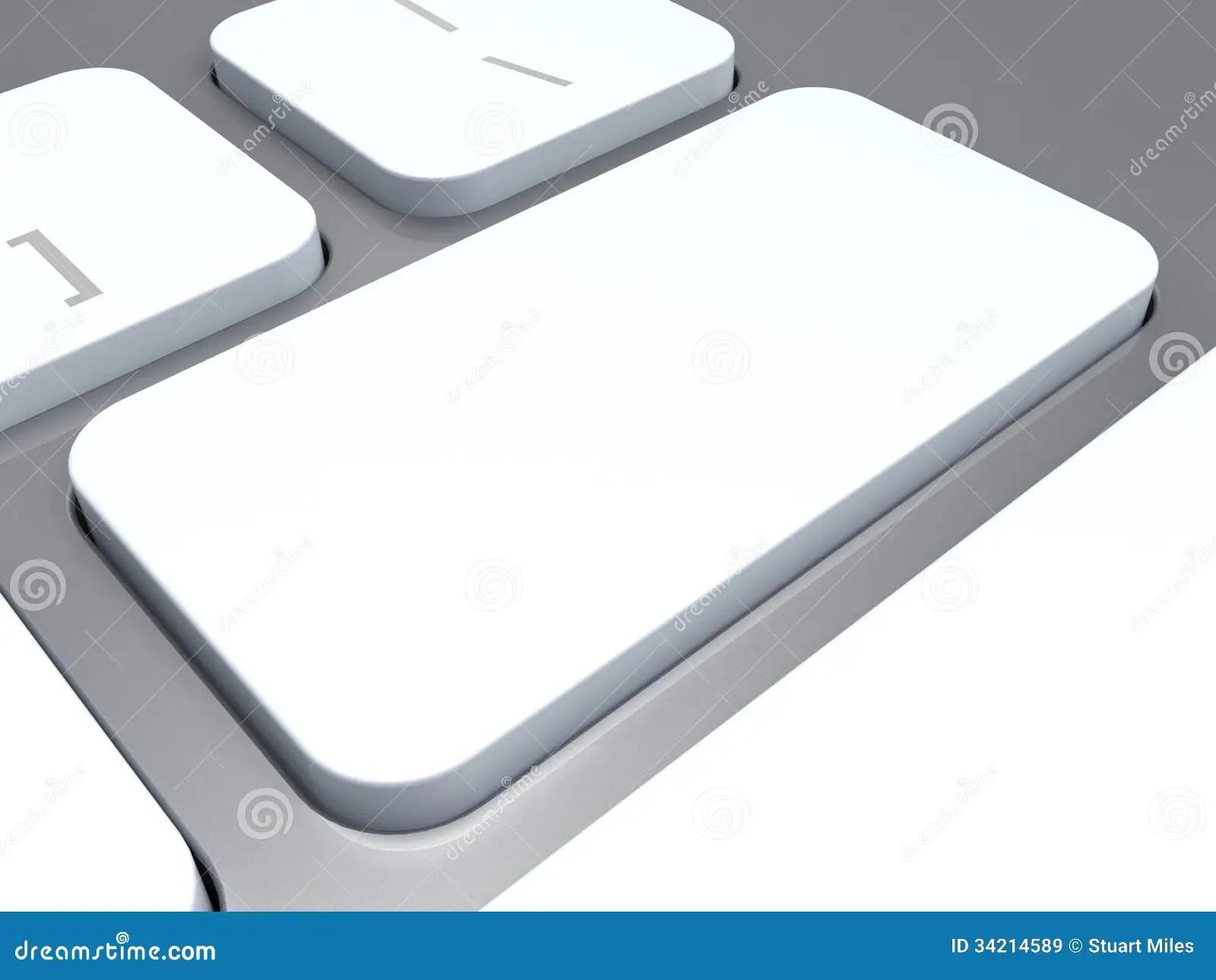 Blank Keyboard Key Shows White Empty Copyspace Keypad