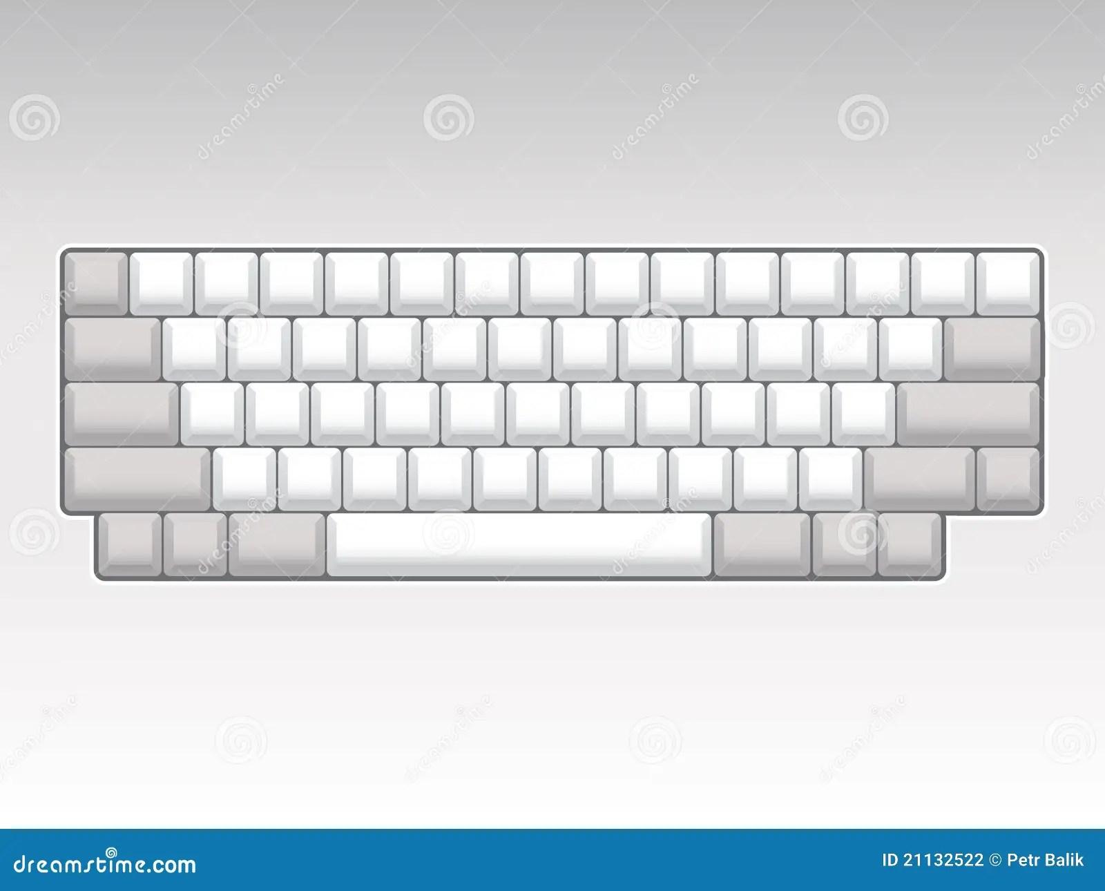 Blank Keyboard Layout Stock Illustration Illustration Of
