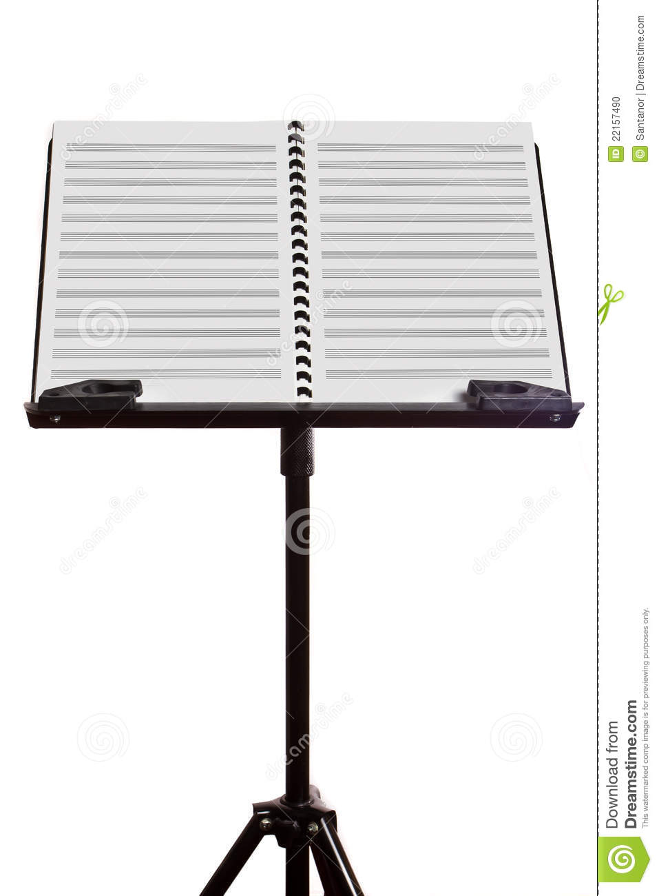 Blank music sheet on stand stock photo Image of music