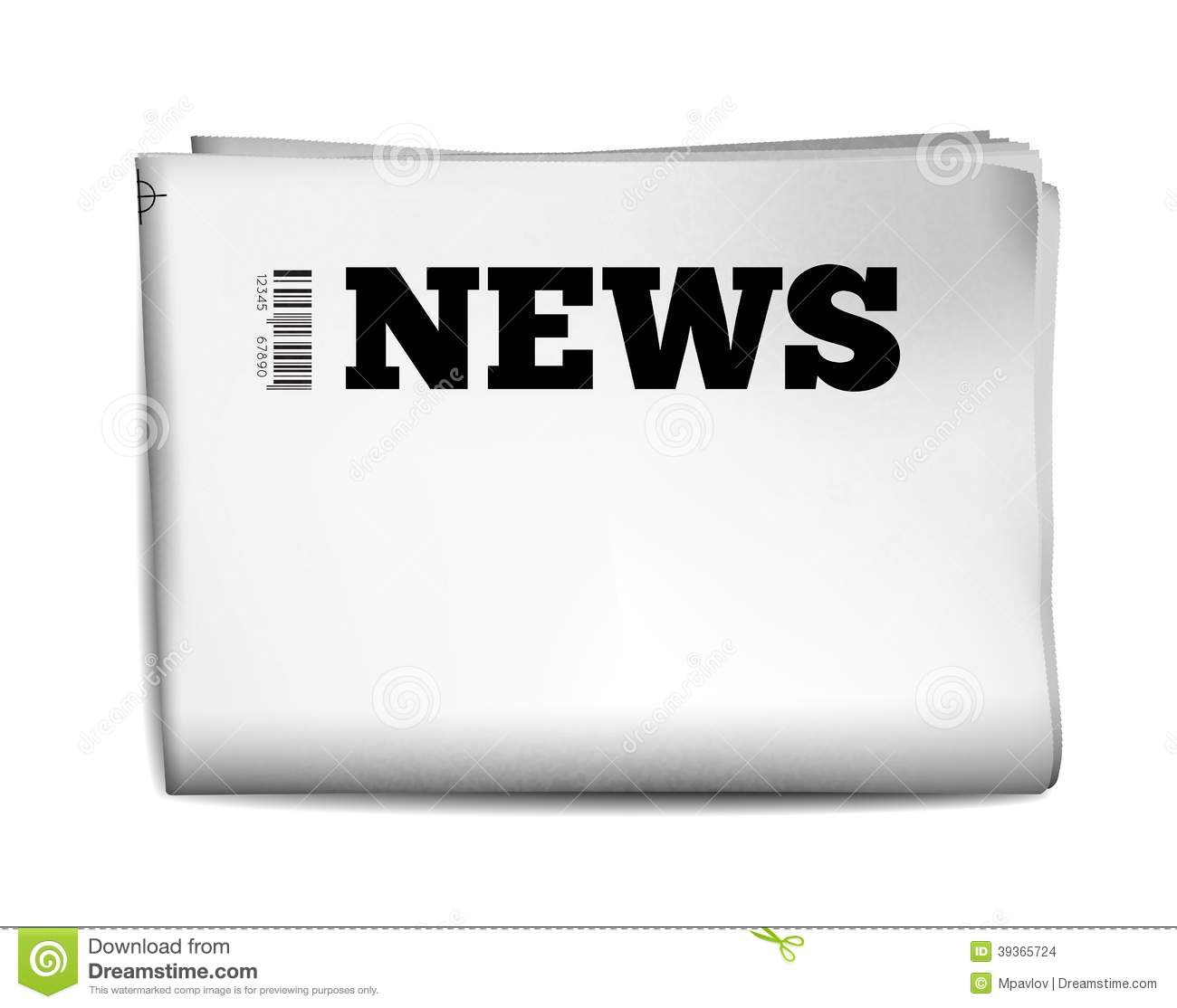 Blank Newspaper Stock Vector Illustration Of Front Media