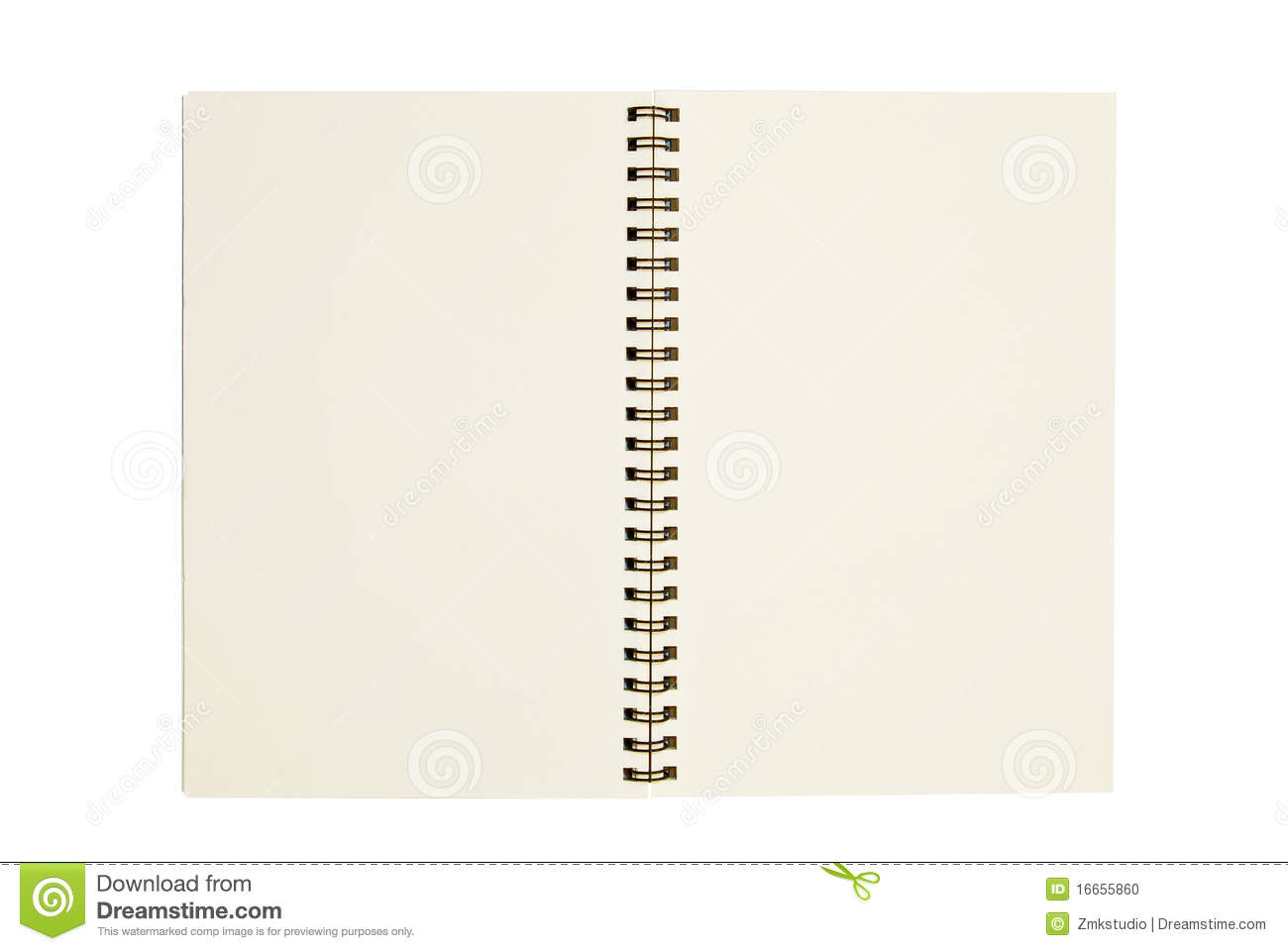 Blank Notebook Open Two Page Isolated Stock Photo  Image