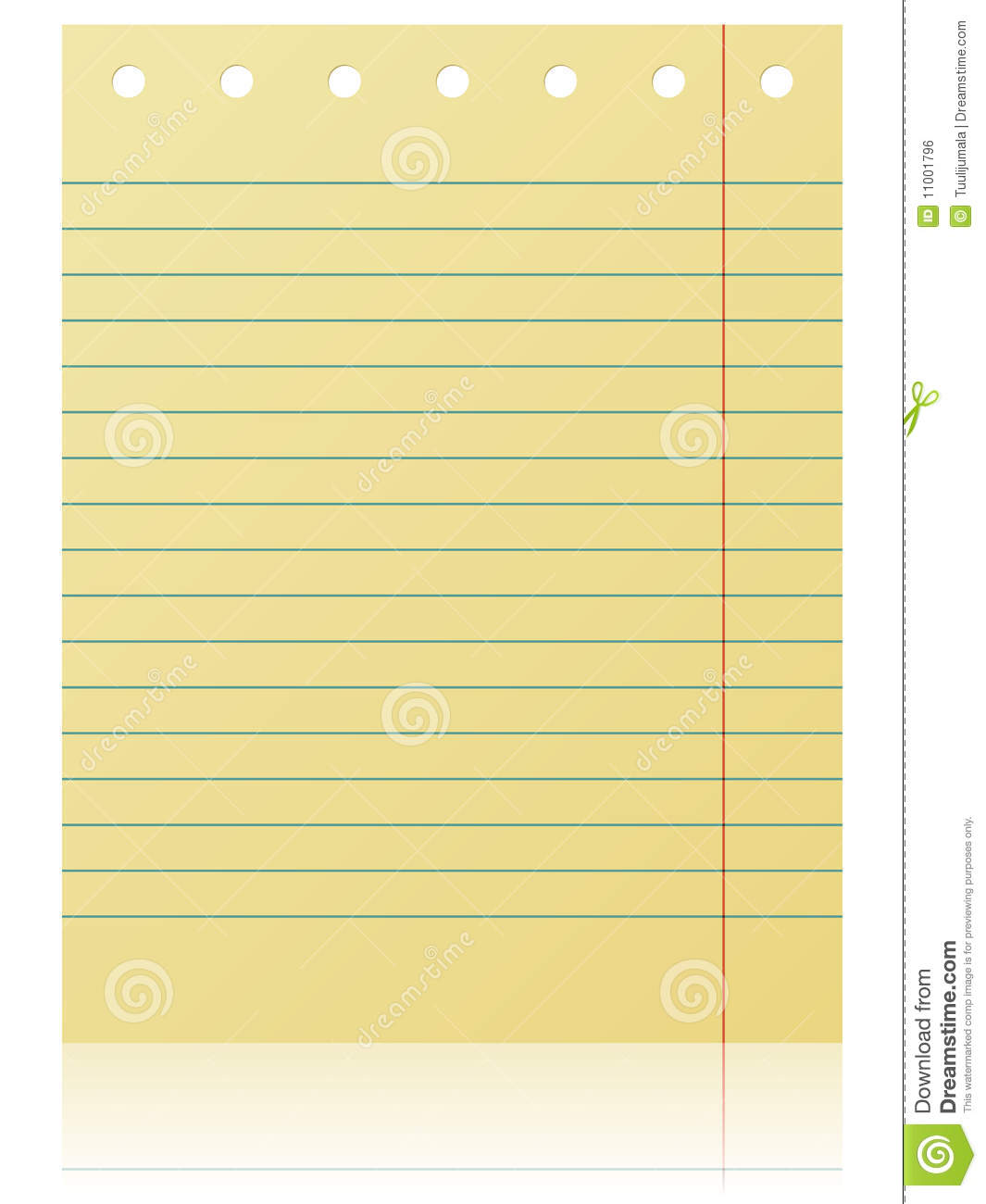 Blank Notepad Page Royalty Free Stock Image