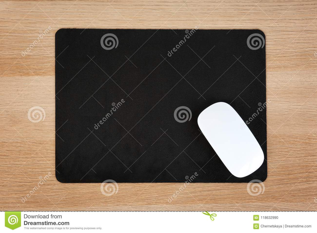 Blank Pad And Wireless Computer Mouse Stock Photo